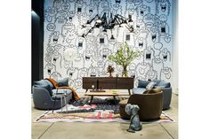 Vulture Rug by Klaus Haapaniemi for Moooi Carpets | Space Furniture