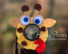 Lens Bling - Silly Giraffe- Ready to Ship. $21.00, via Etsy.