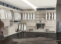 Corner walk-in wardrobe / wooden MULTIPLO Le Monde Wood