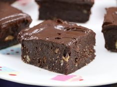 Fudgy Raw brownies with Chocolate Ganache Frosting