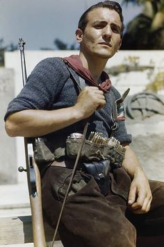 An Italian partisan in Florence 14 August 1944.