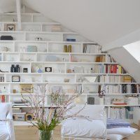 Ideas Home Library Attic Reading Room Style At Home, Attic Spaces, Small Spaces, Home Library Rooms, Library Wall, Family Room Design, Deco Design, Trendy Home, Modern Room