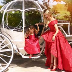 Baby dress & by @hera_shop ... My dress by @lusi.wedding Cinderella carriage by @geraldina_sposa Photo by @hera.studio @iliriapalace