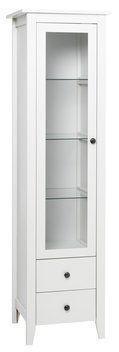Vitrinskåp AULUM 1 dörr vit, badrumsskåp 1999 kr från JYSK
