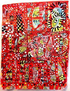 StencilGirl Talk: Suzi Dennis: Doodling with stencils on tissue paper.