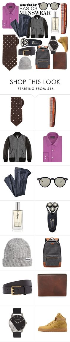 """""""Untitled #103"""" by femke1111yolo ❤ liked on Polyvore featuring Tom Ford, Baxter of California, Golden Bear, Kenneth Cole, Thom Browne, Yves Saint Laurent, Remington, Neff, FOSSIL and The British Belt Company"""