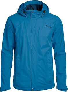 Super!  Bekleidung, Herren, Streetwear, Jacken Streetwear, Himmelblau, Hooded Jacket, Rain Jacket, Windbreaker, Raincoat, Sports, Super, Rv