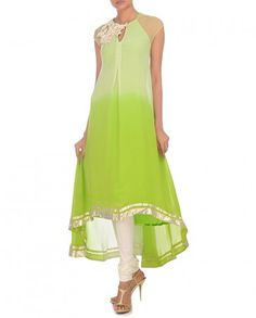 Ombre Mint and Neon Green Tunic