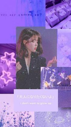 Purple Wallpaper, Tumblr Wallpaper, Bts Wallpaper, Aesthetic Iphone Wallpaper, Aesthetic Wallpapers, Candy Girls, Violet Aesthetic, Instagram Frame, Iu Fashion
