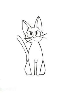 New Tattoo Small Animal Studio Ghibli Ideas Anime Tattoos, Dog Tattoos, Cat Tattoo, Small Tattoos, Tattoo Animal, Kiki's Delivery Service Cat, Kiki Delivery, Studio Ghibli Tattoo, Studio Ghibli Art
