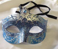 Decorative Masquerade Mask Blue #reflections_vintage_toronto #masks #masquerade #masqueradeball