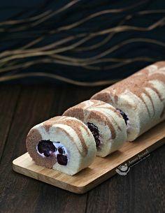 Marble Cherry Swiss Roll Cake