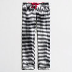 Factory flannel pajama pant in navy gingham - Sleepwear - FactoryWomen's FactoryWomen_Shop_By_Category - J.Crew Factory