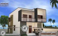 Design for Indian Homes House Plans For Two Story Homes Online Two Storey House Plans, Double Storey House, 2 Storey House Design, House Plans One Story, House Front Design, Small House Design, Story House, Contemporary House Plans, Modern House Plans