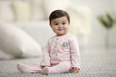 pretty in pink 1-piece sleep & play. #carters