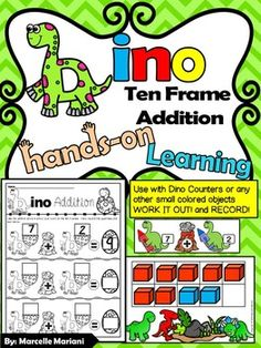 This $1.50 package offers dinosaur themed center activities for kindergarten students that focuses on addition to ten using a ten frame, objects and recording sheet.  This tool is a great introduction to understanding the concept of number 1-10 and addition 1-10.Key words: Dinosaur Centers, Dinosaur math center activities, Dinosaur addition center activities***********************IMPORTANT NOTICE********************************PLEASE BE ADVISED THAT THE TOOLS IN THIS PACKAGE HAVE BEEN EXTRACTED ...