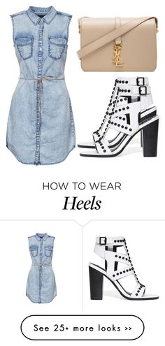 """Untitled #2287"" by fiirework on Polyvore featuring ONLY and Yves Saint Laurent"