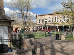 Historic Plaza in Santa Fe, New Mexico