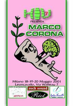 H.I.U 7° edizione Milano 18, 19, 20 Maggio 2001 Leoncavallo Disegno di Marco Corona