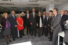 Don Felipe and Doña Letizia presided over the inauguration of the new headquarters of Reuters, who, after 35 years in Espronceda Street in Madrid, he moved to a building located on Avenida de Burgos.13.02.14