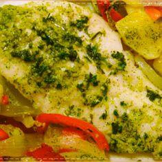 Filetes de pescado al microondas