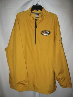 "Men's Nike Mizzou Tigers Gold Football Jacket Pullover 1/4 Zip. Size 3XLT. Top of zipper to bottom hem 31 1/2"". | eBay!"