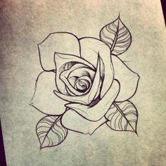 Pin by sherman on traditional & neo trad tatuajes de rosas, Rose Drawing Tattoo, Flower Art Drawing, Flower Drawing Tutorials, Tattoo Sketches, Tattoo Drawings, Drawing Sketches, Art Drawings, Family Tattoo Designs, Flower Tattoo Designs