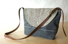Small Waxed Canvas Shoulder Bag by BarnacleBags