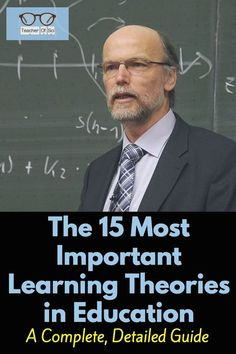 This complete guide to the 15 most important learning theories explains Vygotsky to Piaget, Bruner t Learning Theories In Education, Adult Learning Theory, Educational Theories, Student Learning, E Learning, Educational Games, Early Learning, Teaching Strategies, Teaching Tips