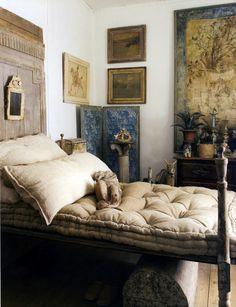 artwork gallery in the bedroom