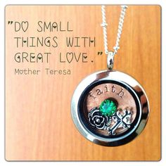 "Mother Teresa faith - Origami Owl Living Lockets! Personalize yours today! ORDER BY CLICKING ON PHOTO 1) Click ""Sign in to My Account"" 2) Create Account 3) Happy Shopping! Designer #10657 JOIN MY TEAM! Host a party :-) Join the fun!   happilynapoli@yahoo.com  330.618.6211"