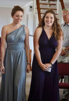 Dessy twist wrap dresses. Don't they look fabulous! #DessyRealWeddings