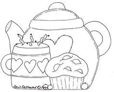 tea and cupcake
