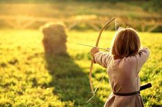 """""""Then you hold the string back like this,"""" the king said helping his daughter pull back the string,"""" and then you let lose"""" Goldilocks let loose the arrow and missed the target by meters, she gave a pout as her dad chuckled """"Keep practicing princess you'll get the hang of it."""""""