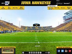Iowa Hawkeyes Gigapixel - Blakeway Gigapixel | http://gigapixel.panoramas.com/iowa/football/20150919/ - 360° fan photo taken from the field at Kinnick Stadium during an Iowa Hawkeyes football game on 9/19/2015.