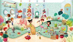 L'école de mes rêves 6 Quirky Art, Whimsical Art, Kid Character, Character Design, Drawing For Kids, Art For Kids, Illustration Mignonne, Art Fantaisiste, Art Of Love