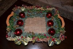 Πως να στολίσετε ένα χριστουγεννιάτικο διακοσμητικό καλάθι - Anthomeli