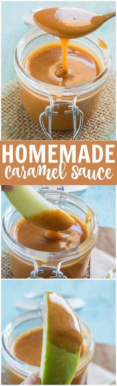 Caramel Sauce - 1 1/2 c. brown sugar, 2 TBS.  water, 3/4 c. butter, 2 tsp. vanilla, 3/4 c. evaporated milk, pinch salt.  Boil brown sugar, water, butter 5 min.  Add vanilla, milk, salt. Refrigerate to thicken