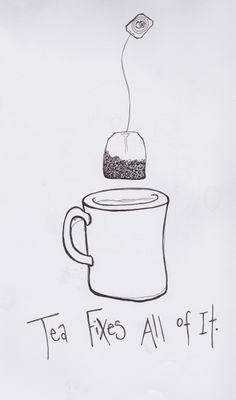 Love the tea     The Luckiest Girl