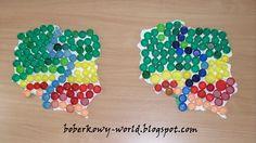 Boberkowy World : Mapa Polski z nakretek i godło z piór- prace plastyczne Diy, Bricolage, Do It Yourself, Homemade, Diys, Crafting