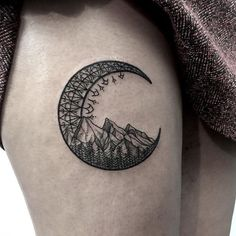 Image result for moon tattoo back