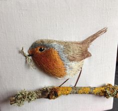 Working towards Countryfile Live at Blenheim Palace 4-7th August. #countryfile #blenheim #palace #robin #embroidery #august