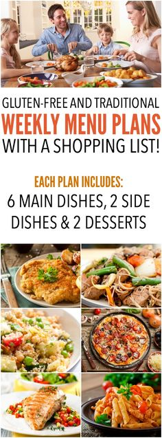 Gluten-Free and traditional weekly menu plans with a shopping list! This has been an absolute lifesaver! Learn more at SixSistersMenuPlan.com!