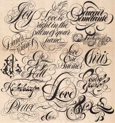 #typographic #tattoo #fonts types
