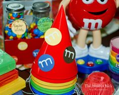 The Sweet Chick: M&M Birthday Party Hats