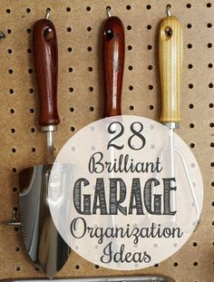 Lots of clever and creative ways to organize your garage! It really is hard to get motivated when you're garage looks like a dump. The last thing I want to do is spent 20 minutes looking for the rake. Fortunately, with a few simple storage ideas and clever tips, you can keep your garage clean and organized.