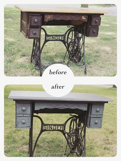 Obsessed: Singer Sewing Machine Tables - accountingthedays.com - A crafty accountant's blog
