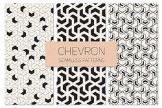 Chevron Seamless Patterns Set 2 by Curly_Pat on @creativemarket