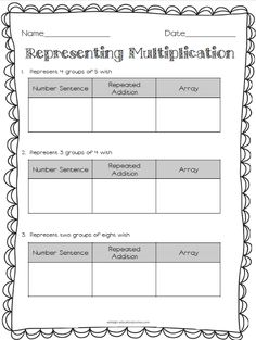 Multiplication & Division Freebies