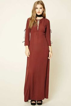 FOREVER 21+ Lace-Up Maxi Dress by Forever 21 - 19.5$
